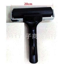 1 piezas de caucho + Acero de herramienta de pintura SIDA impresión rodillo suave arcilla cerámica herramientas bricolaje negro rojo Width6cm /10 cm/15 cm/20 cm(China)