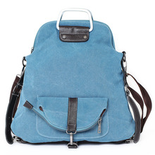 2015 Fashion new Korean female bag multifunctional sport canvas travle portable Crossbody School Bag backpacks(China (Mainland))