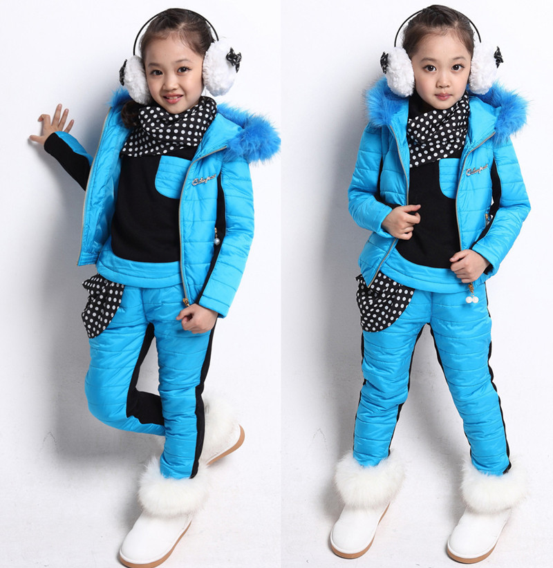 2016 brand children clothing winter girls clothing sets