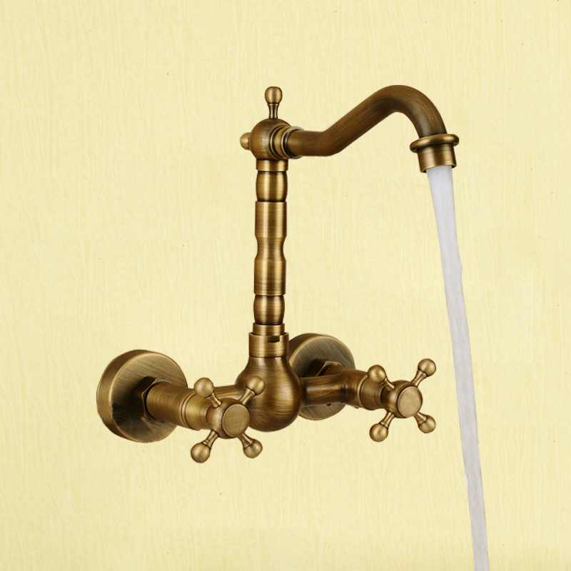 Fashion flush basin faucet antique faucet cold and hot water copper rotating(China (Mainland))