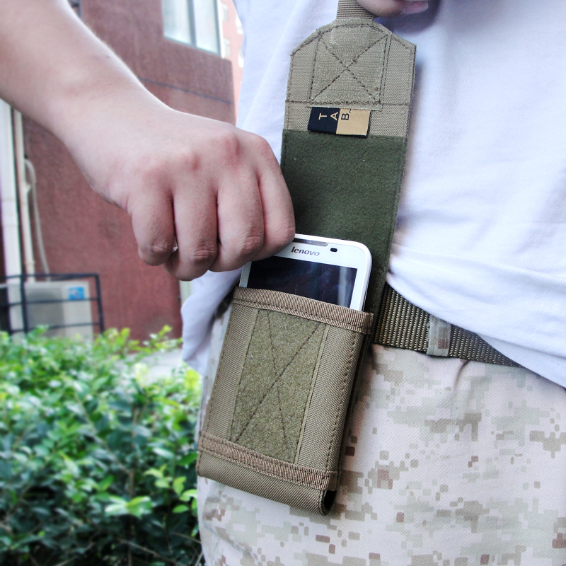 Outdoor Men Tactical TAB Mobile Phone Case Bag 5.5 Inch Screen Sports Molle Nylon Waist Pack Cellphone Pouch Freeship - Online Store 638075 store