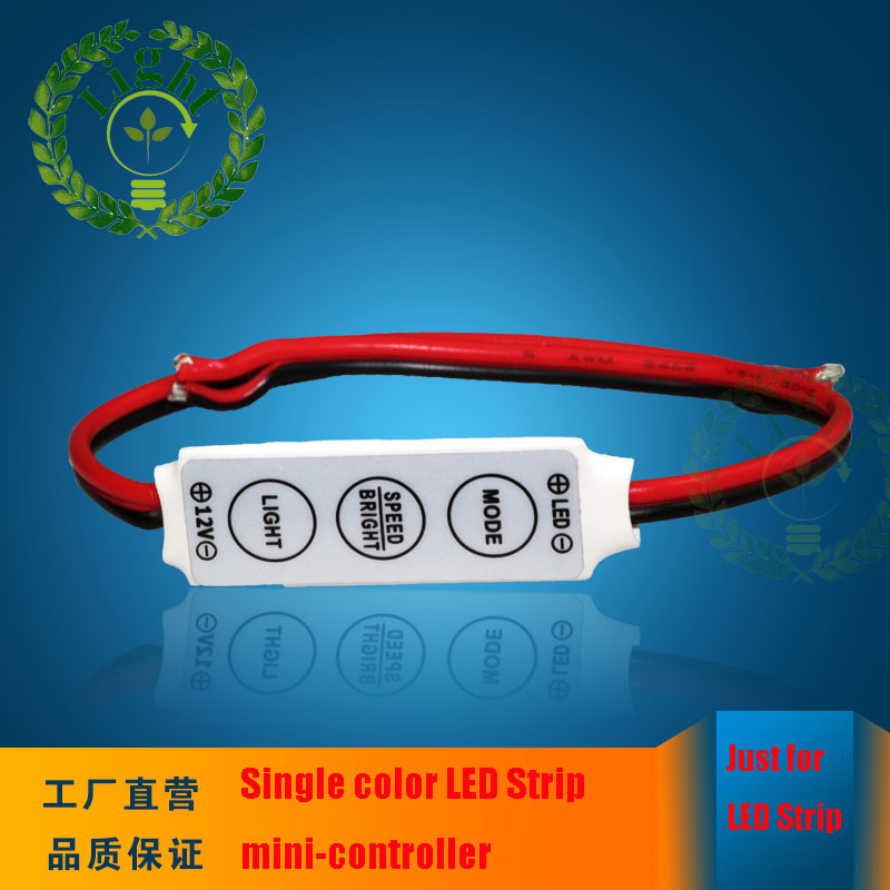 1pcs lot 12V 3 keys mini dimmer controller brightness dimmer controller for 3528 5050 single color