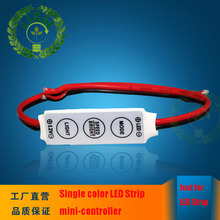 1pcs/lot 12V 3 keys mini dimmer controller brightness dimmer controller for 3528 5050 single color LED strip