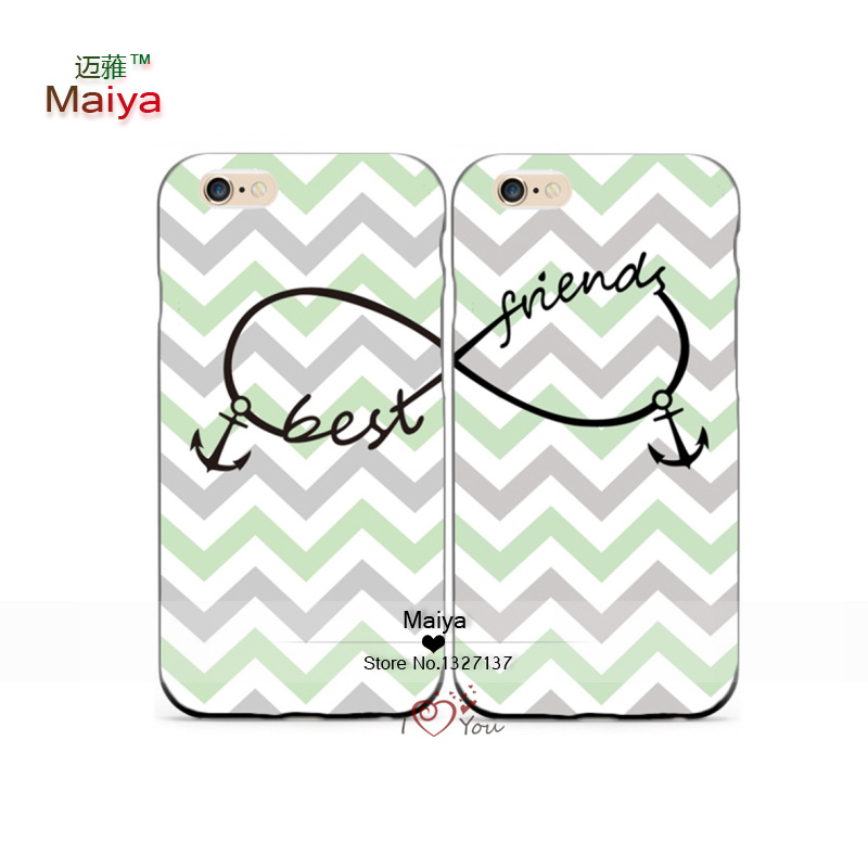 2pcs lot Best Friends Forever M89043 Lover Phone Cases For font b iphone6 b font 6sSE