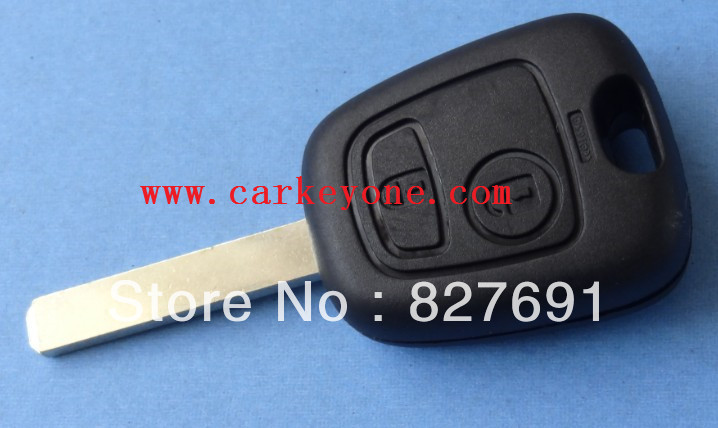 Guaranteed 100 replace 2 button remote key shell case for Peugeot 107 207 206 307 key