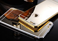 Luxury Case For iPhone 5 5s Slim Mirror back Cover and Metal Aluminum Frame Cases for
