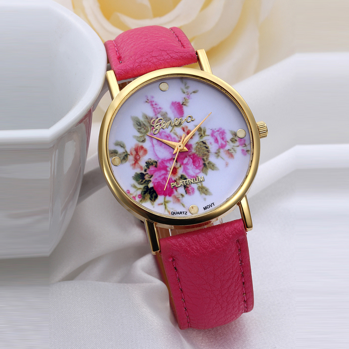 2015 Women Rhinestone Watches Quartz Analog Bracelet Wristwatches 9 Style Top Brand Dress Watch Mujer Relojes