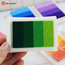 1pcs Various colorful Cartoon Homemade DIY Vintage Crafts 4 colors gradient Ink Pad Inkpad Rubber Stamp Decoration(China (Mainland))