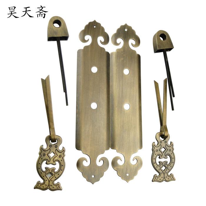 [] Copper door Haotian vegetarian Chinese antique door handle antique handle HTC-254 Classical Handle<br><br>Aliexpress