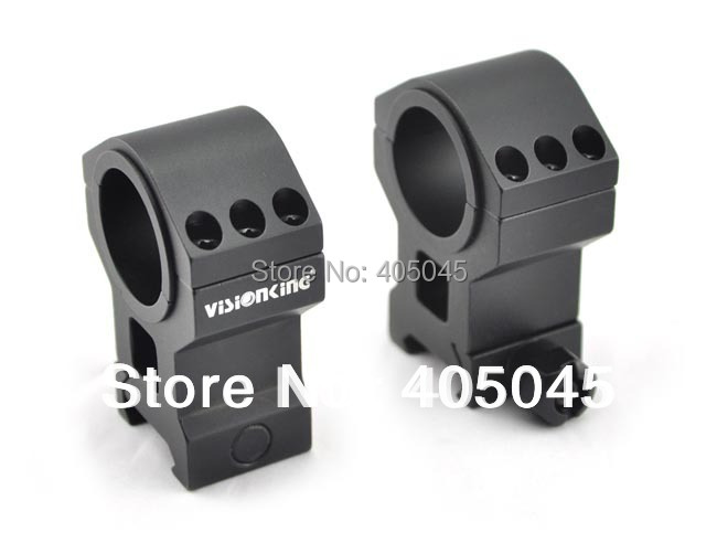 Free shipping! Visionking rifle scope rings 25.4mm 30mm mount 6061 for .223 .308 .50 High body