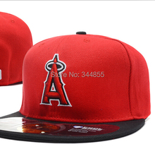 One Pcs Top quality Los Angeles Angels Cool Style Red Color Baseball Fitted Hats,Men's Full Closed Caps A Logo Free Shipping(China (Mainland))