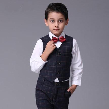 2016 new arrival fashion kids baby boys blazers suits boy suit for weddings children formal blue autumn winter vest suit<br><br>Aliexpress