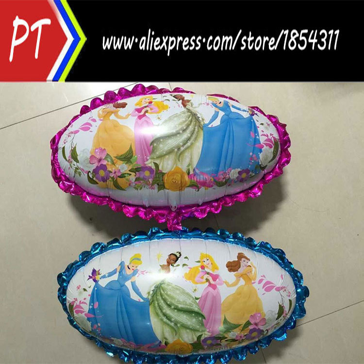 NEW ARRIVAL 50pcs/lot six princess foil balloon,helium balloons,mylar balloon party ballons(China (Mainland))