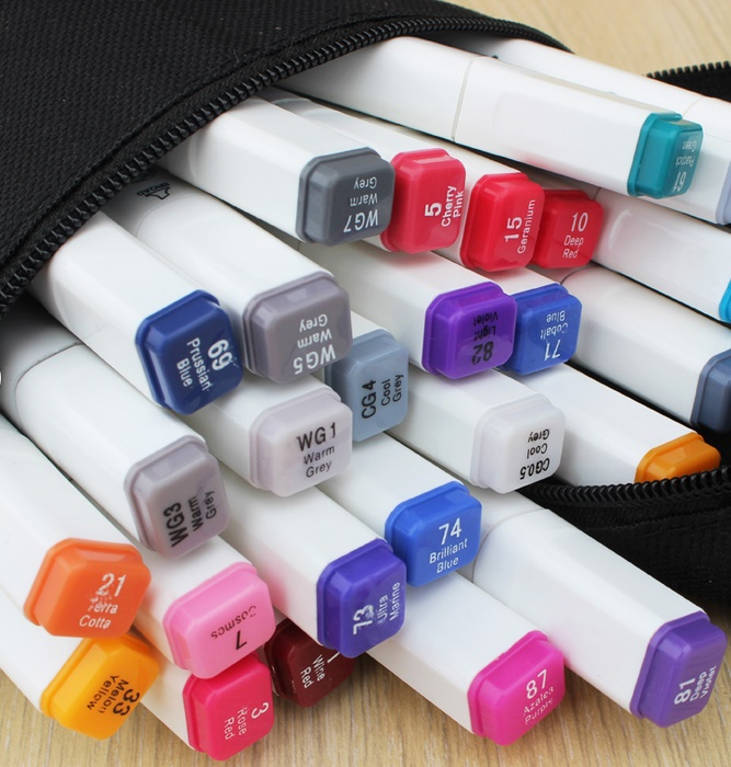 10colors/set Double slider TOUCH Liit 6 Alcohol Graphic Art Twin Tip Pen Marker(China (Mainland))