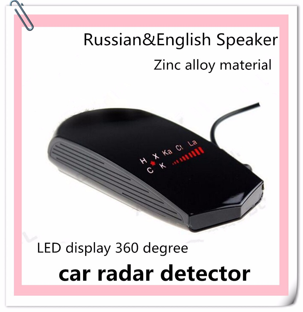 Best selling Zinc Alloy Russian/English speaker 360 Degree Alert Anti detector de radares for Speed Limited police radar gun(China (Mainland))