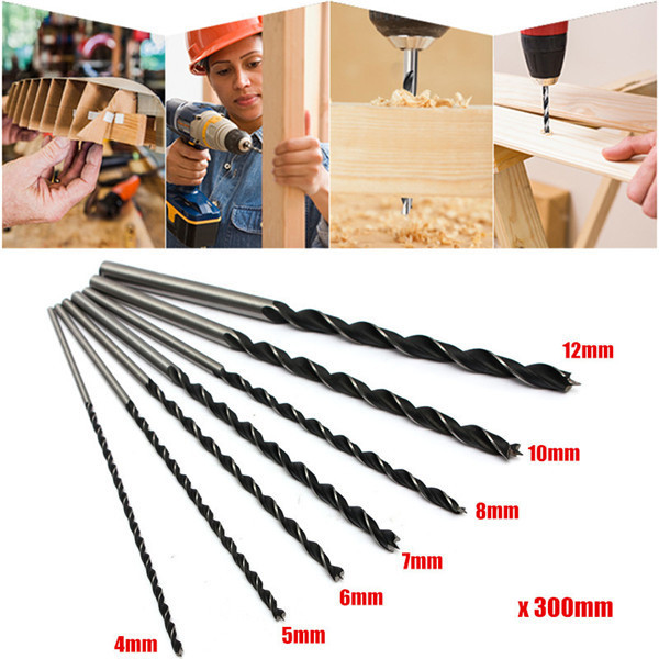 7pcs 4/5/6/7/8/10/12mm 300mm Brad Point Twist Drill Bits Set Wood Working Tool(China (Mainland))