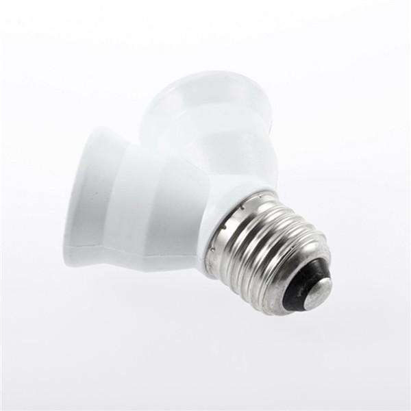 1pc Brand New E27 to 2 E27 Holder Light Lamp Bulb Adapter Converte 2E27 Lamp Holder Converter Corn Candle Ball Bulb lighting Use(China (Mainland))