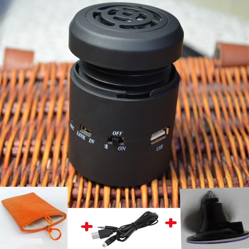 Big promotion Wireless Bluetooth small vibrating speaker 10W with FM radio U-disk port microphone + sucker + carry bag+free ship(China (Mainland))