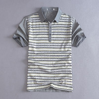 2016 summer men's striped polo shirts fashion slim short sleeve polos men summershirts free shipping