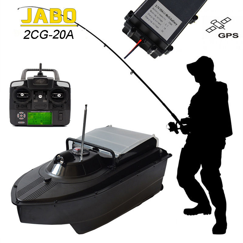 Jabo 2cg 20a 5hrs working wireless rc carp bait boat fish for Gps trolling motor for sale