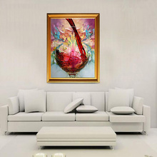 60*70cm Fashion Hand-painted Abstract Oil Painting Wine Glass Speacial Decorative Art for Home Office Great Art Home Decoration(China (Mainland))