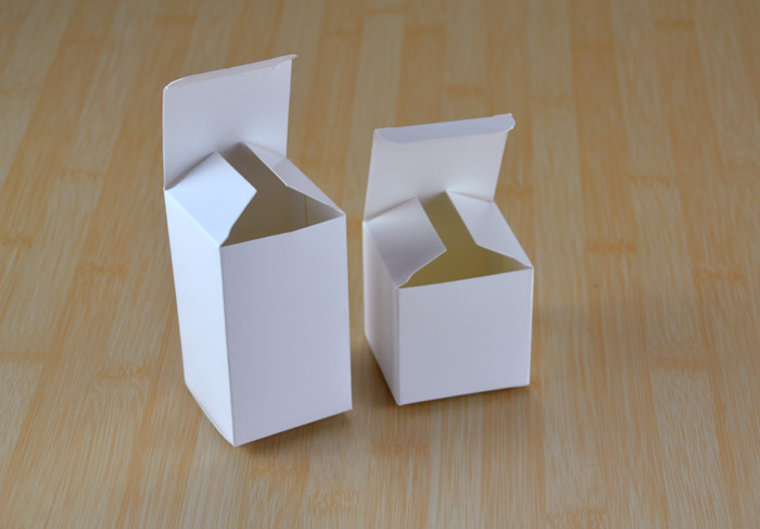 Jewelry Packing White Cardboard Goods Merchandise Inner Package Box Custom Logo Printing Folding Paper Plain White Packing Boxes(China (Mainland))