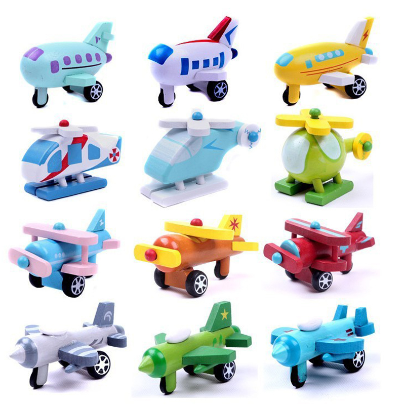 1 PCS New wooden mini airplane models kit wood plane baby learning & education toys gifts for children Kids hot free shipping(China (Mainland))