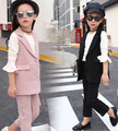 2017 autumn children s clothes girls suits slim sleeveless cotton baby girl formal suits for girls