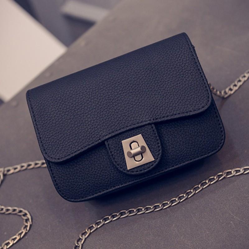 2015 new handbag tide lock chain embossed Small Bag Mini Simple Shoulder Messenger Bag side chains<br><br>Aliexpress