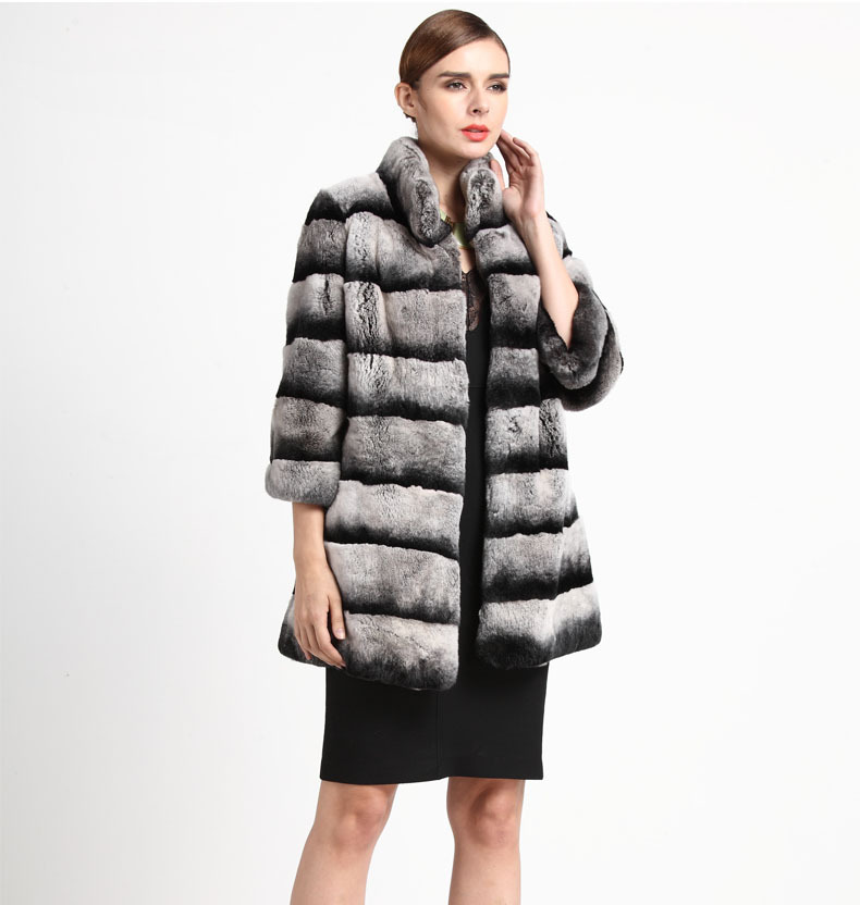 Buy 2015 New Genuine Raccoon Fur Coat Women Long Jacket Winter Quality Outerwear Dhl Ems F658