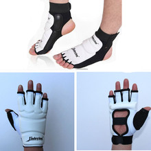 Adult child Taekwondo Foot gloves set Protector Ankle Support fighting foot guard Kickboxing boot WTF approved Palm protect(China (Mainland))