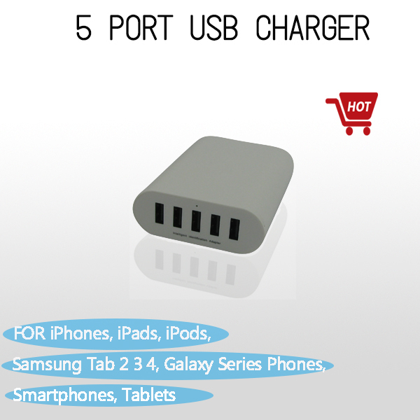 1 Universal Safety Smart 10A 50W High Speed 5 Port USB Super Fast Charger Power Adapter USB Charger For Smartphones