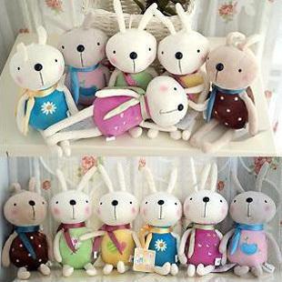 1 PCS Mixed Color Kawaii 12CM Length Metoo Rabbit Plush Stuffed TOY DOLL Cellphone Strap Pendant Mobile Phone Charm Plush Toy