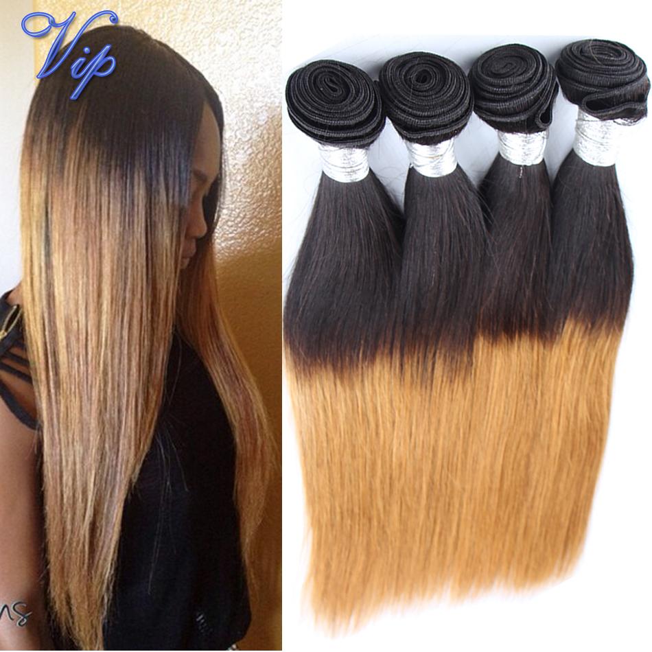 ombre virgin hair brazilian straight hair 4pcs modern show brazilian straight virgin hair 6a grade 1b/4/27 omre human hair weave<br><br>Aliexpress