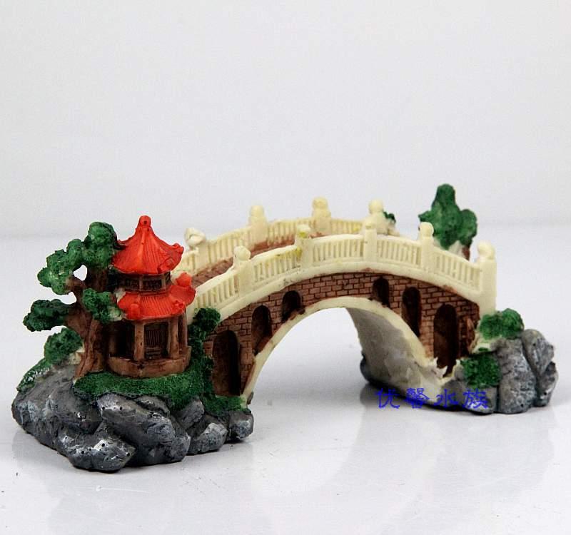 Aquarium landscaping decoration medium bridge resin for Aquarium bridge decoration