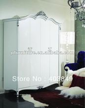 carved silver leaf wardrobes NC120208(China (Mainland))