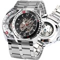 Relogio Automatico Masculino Automatic Mechanical Skeleton Watch Men Silver Automatic Self wind Men s Mechanical Wrist