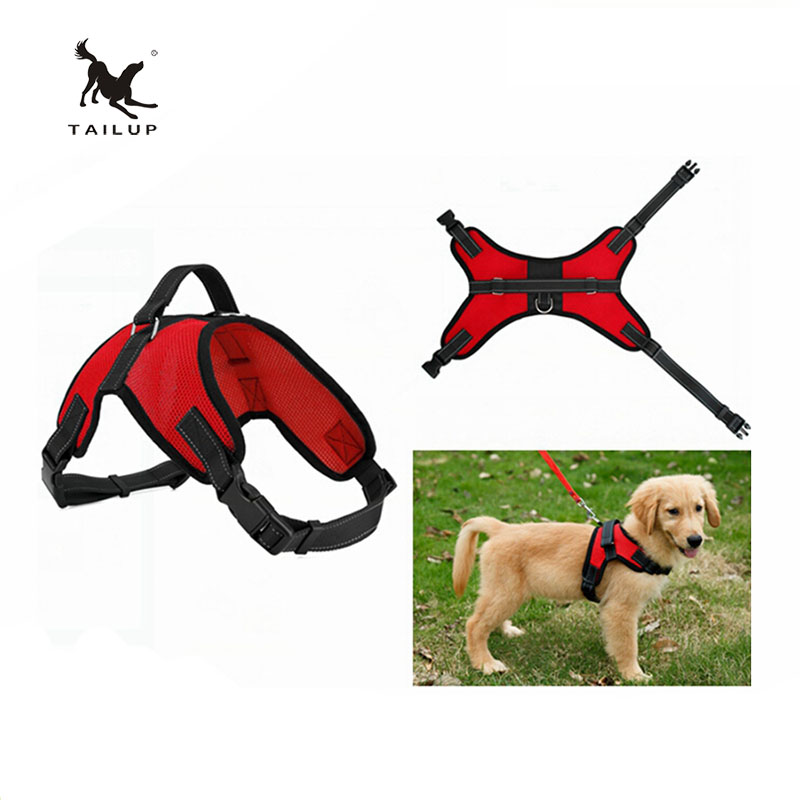 TAILUP 2016New Breathable No Pull Mesh Dog Harness Adjustable Straps Around Neck Chest S-XL(China (Mainland))