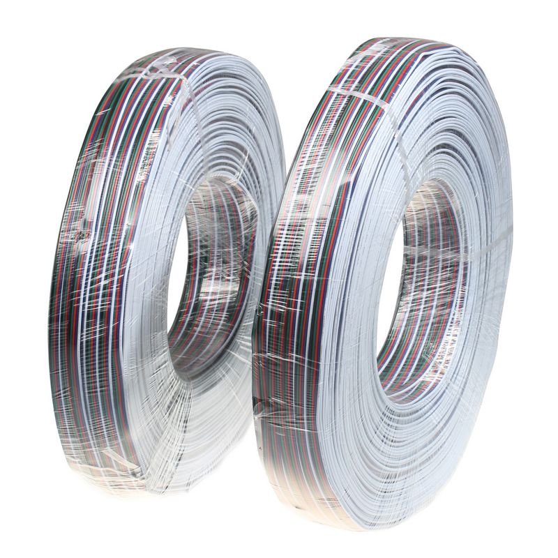 ( 2 reel/lot ) 200M 22AWG 5 Pin RGBW LED Extension Extend Wire Cable Cord For LED Lighting(China (Mainland))