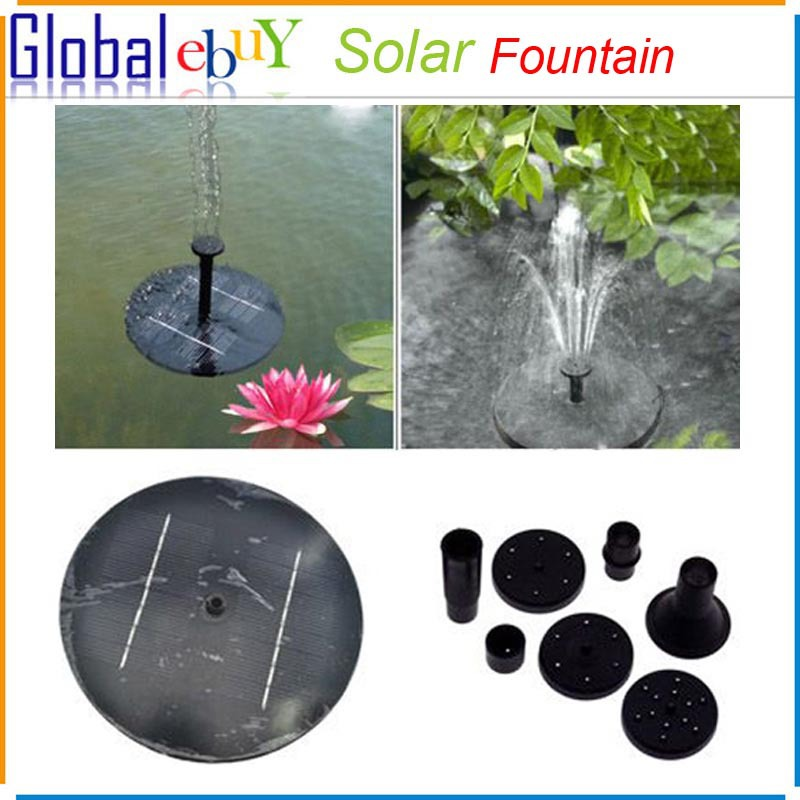 Floating Solar Panel Powered Fountain Pond Water Feature Cascade Garden Pool Kit 1 pcs(China (Mainland))