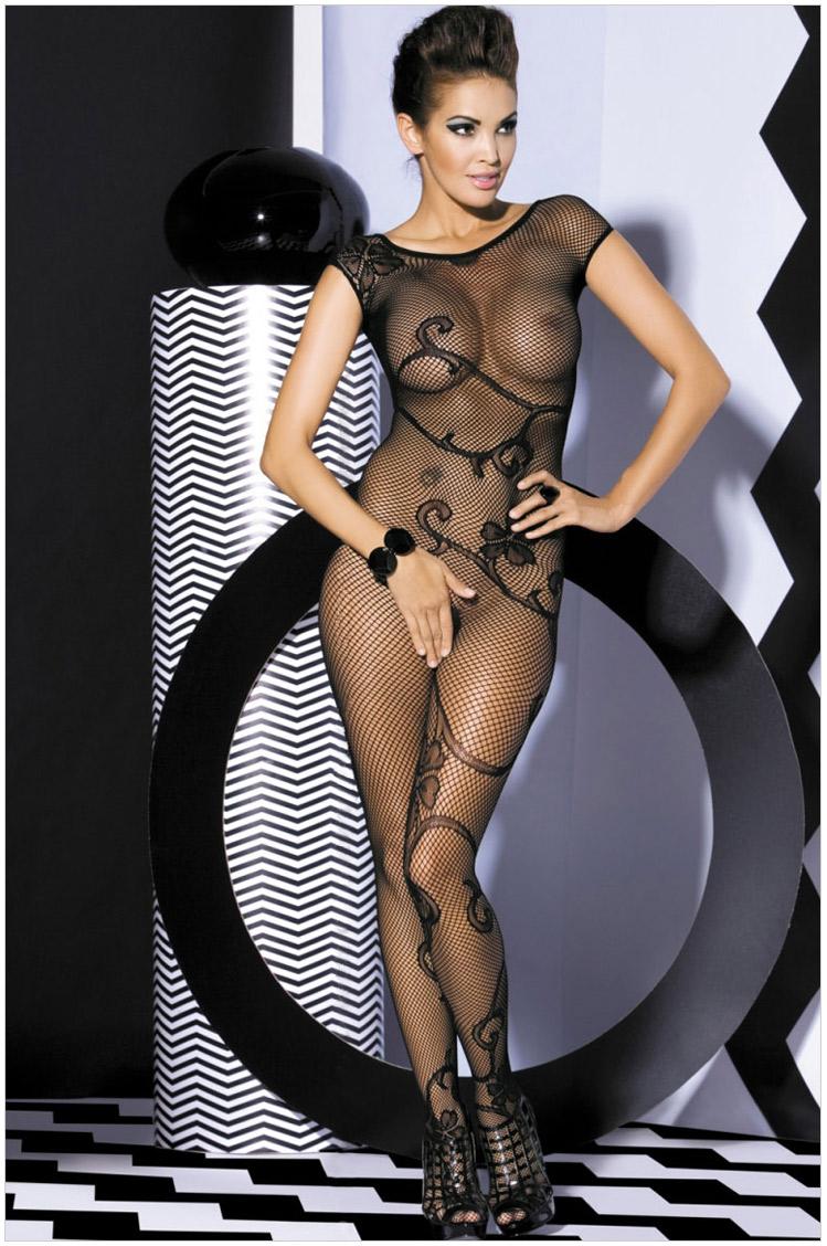 Эротический сплошной костюм из нейлона 18 фотография