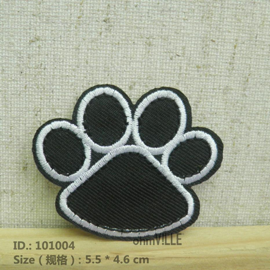 """101004 Black Dog/Bear Footprints Iron-On Patches """"Easy To Apply, Just Iron-On"""" Guaranteed 100% Quality Appliques(China (Mainland))"""