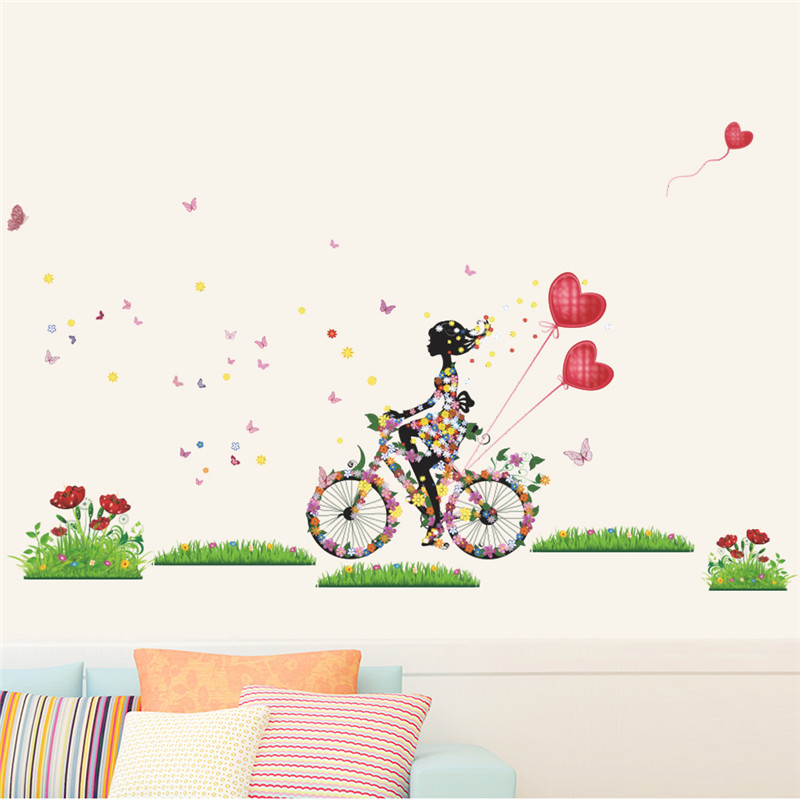 flower fairy wall stickers for girls room girl cycling 20 little girl s bedroom decorating ideas