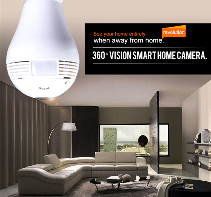 960P Bulb Security Smart  IP Camera Wifi HD 360 Degree Panoramic Motion Detector Cellphone Remote Control  LED Light<br><br>Aliexpress