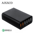AIXXCO Dual Quick Charge 2 0 60W 6 Ports USB Desktop Charging Station Wall Charger QC2