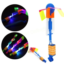 Funny Toy Shining Rocket Flash Copter Arrow Helicopter Led Light Elastic Powered LED Arrow Helicopter (China (Mainland))