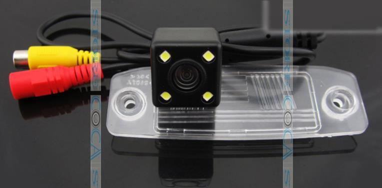 wire wireless for ccd LEDS Car Rear View camera  Reverse backup parking assist for KIA Carens Oprius Sorento Borrego Kia ceed