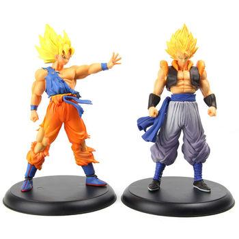 """2 Pcs Goku + Gogeta High Quality DX  Super Saiya Figure Janpan Dragon Ball Z PVC 9"""" For Boy Toys boys"""