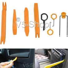 New 8in1 Professional Car Door Plastic Trim Panel Molding Dash Audio Stereo GPS Removal Install Tools Kit(China (Mainland))