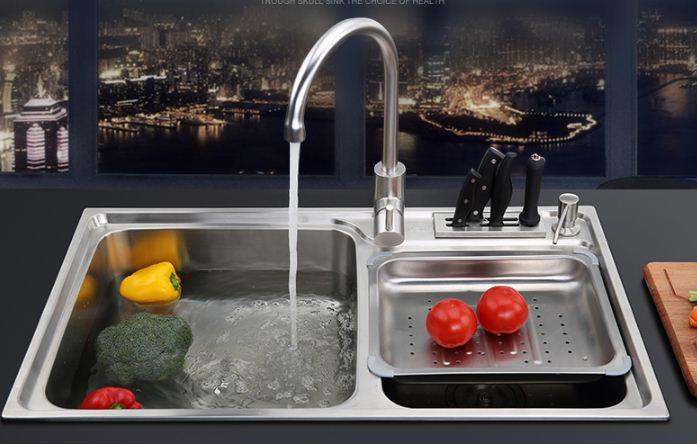 304 stainless steel kitchen sink dish wash basin(China (Mainland))